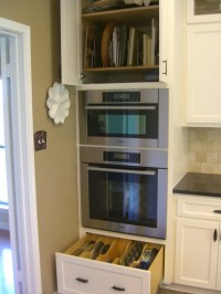 kitchen finished oven cabinets | Vickie Hallmark | Flickr