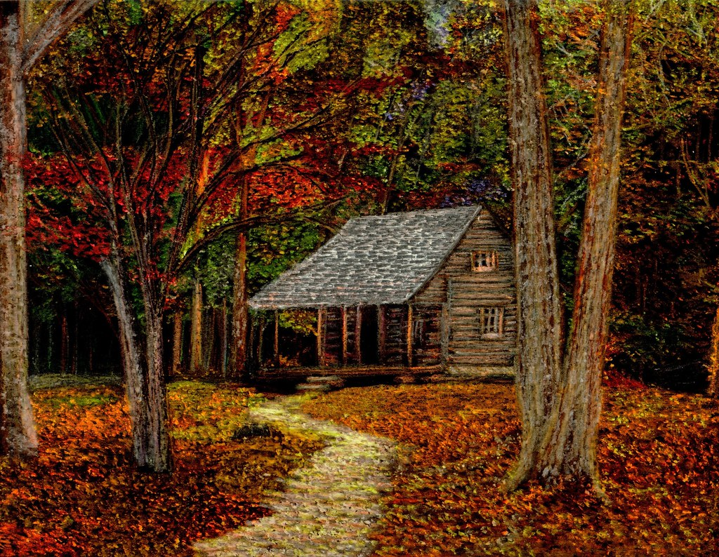 Early Fall Hd Wallpaper Fall Retreat Cabin In The Smoky Mountains During The