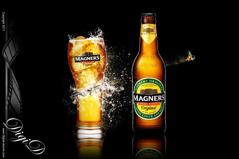 Wallpaper Glass 3d Magners Cider Late For Work This Is A Concept Shot