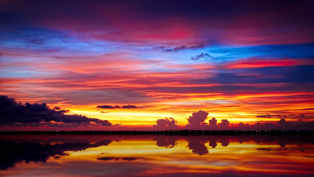3d Island Wallpaper Cape Coral Fl Sunset Single Image Taken Handheld From