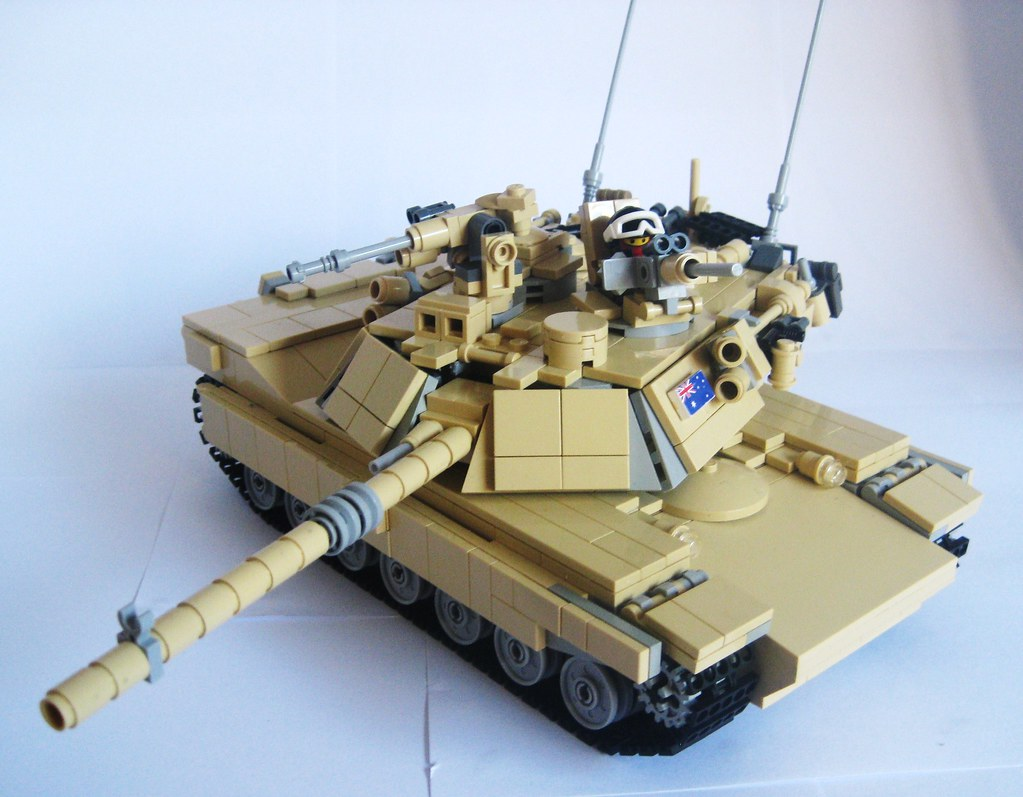 3d Brick Wallpaper Amazon Lego M1a1 Abrams Fully Equipped Tactical Position
