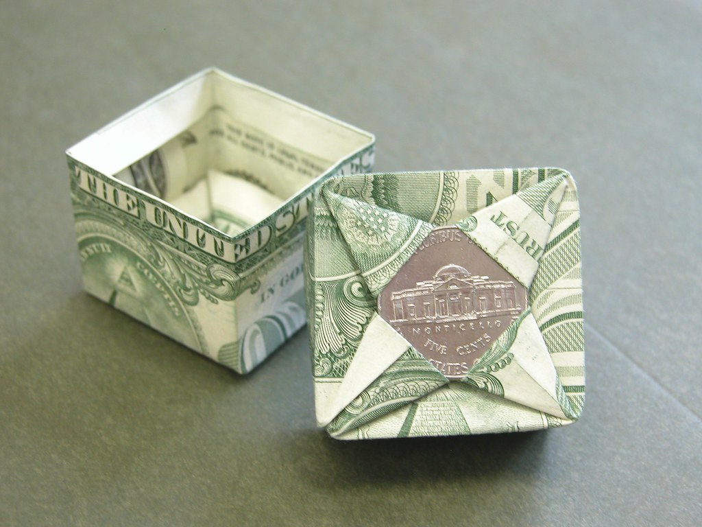 Dollar Bill Square Box Design Fjc I Was Making A Square B Flickr