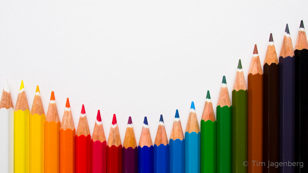Wallpaper 3d Animado Pencil Color Wave A Colourful Set Of Pencils Arranged In