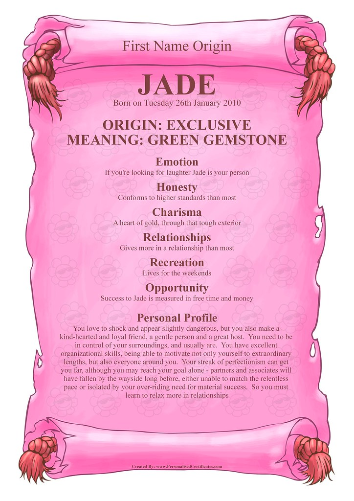 3d Wallpapers Of Friends Forever Jade Name Meaning Personalised Certificates Flickr
