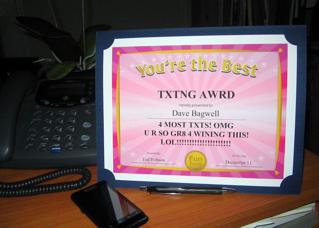 Office Superlatives From a recent office party awards cere\u2026 Flickr - employee superlatives