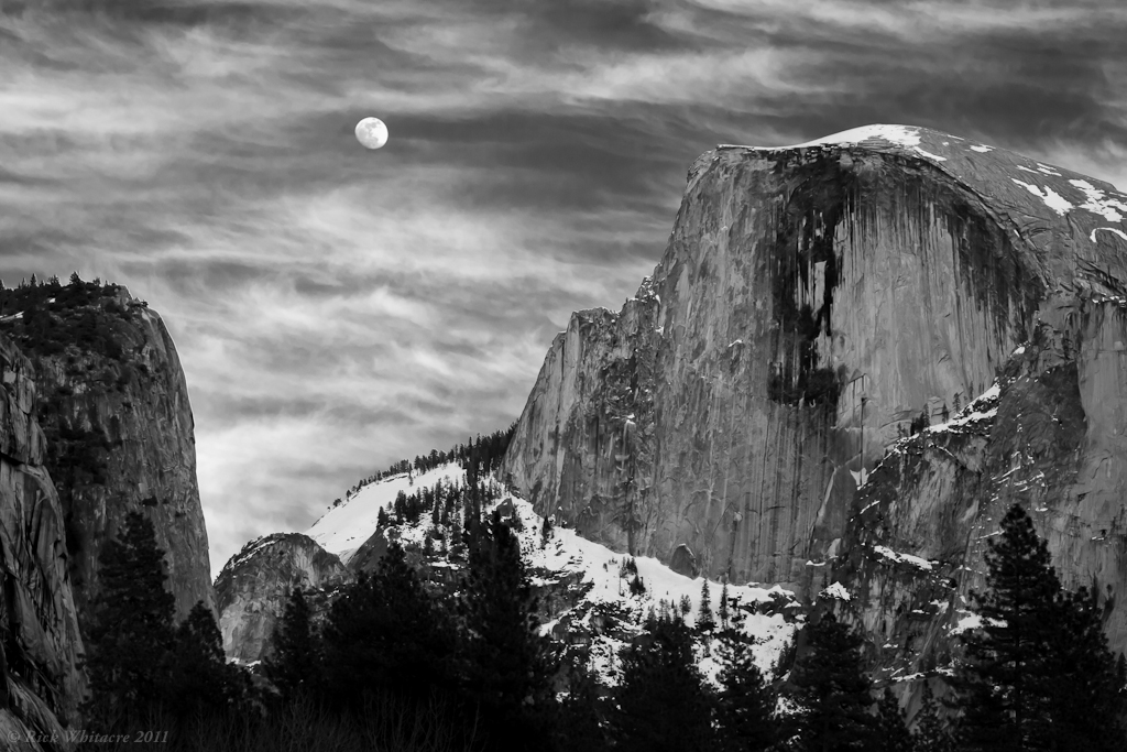 How To Make 3d Wallpaper Full Moon Over Half Dome Was Looking At Some Shots Taken