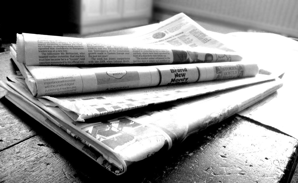 Newspapers BW (4) Newspapers in black and white Jon S Flickr - newspaper