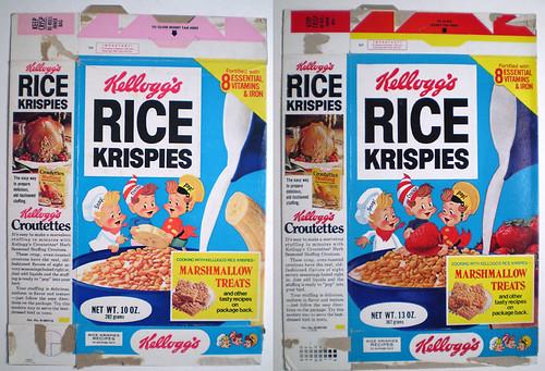 1975 Kellogg39s Rice Krispies Cereal Box Marshmallow Treats