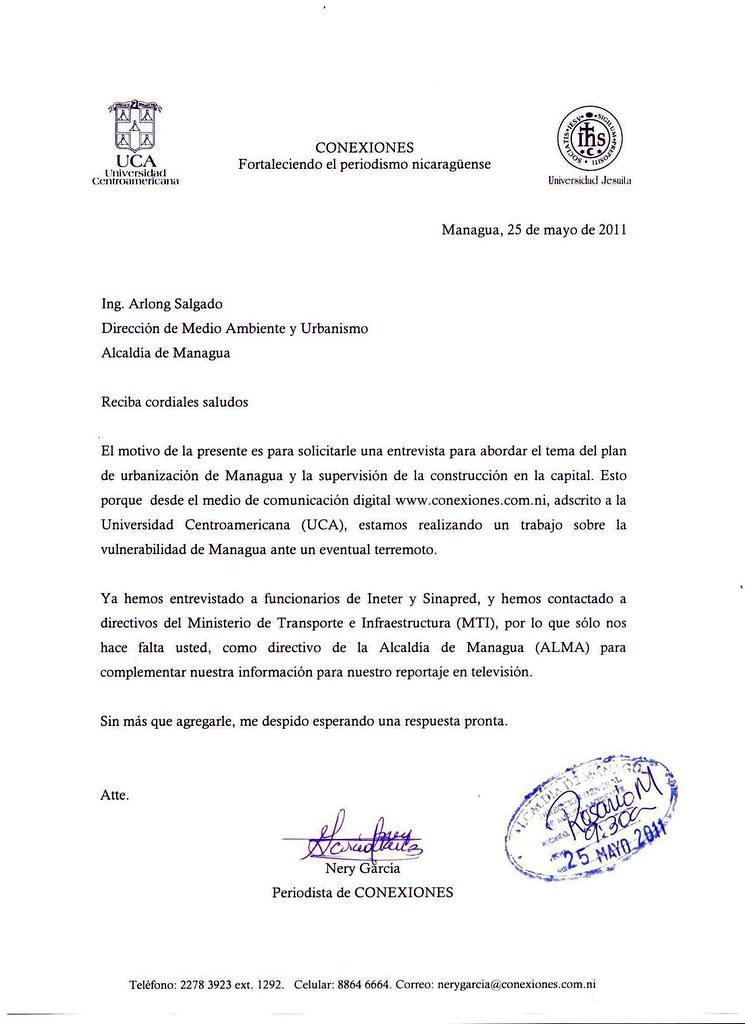 Carta a la Alcaldía Carta de solicitud de entrevista a Alc\u2026 Flickr