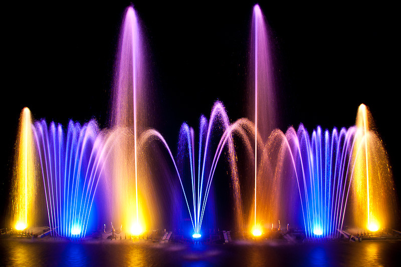 New 3d Animation Wallpaper Electric Forest Water Fountain A Long Exposure On A