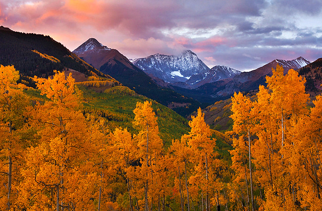 Fall Wallpaper Lake Autumn Capitol Peak Snowmass Colorado Beautiful First
