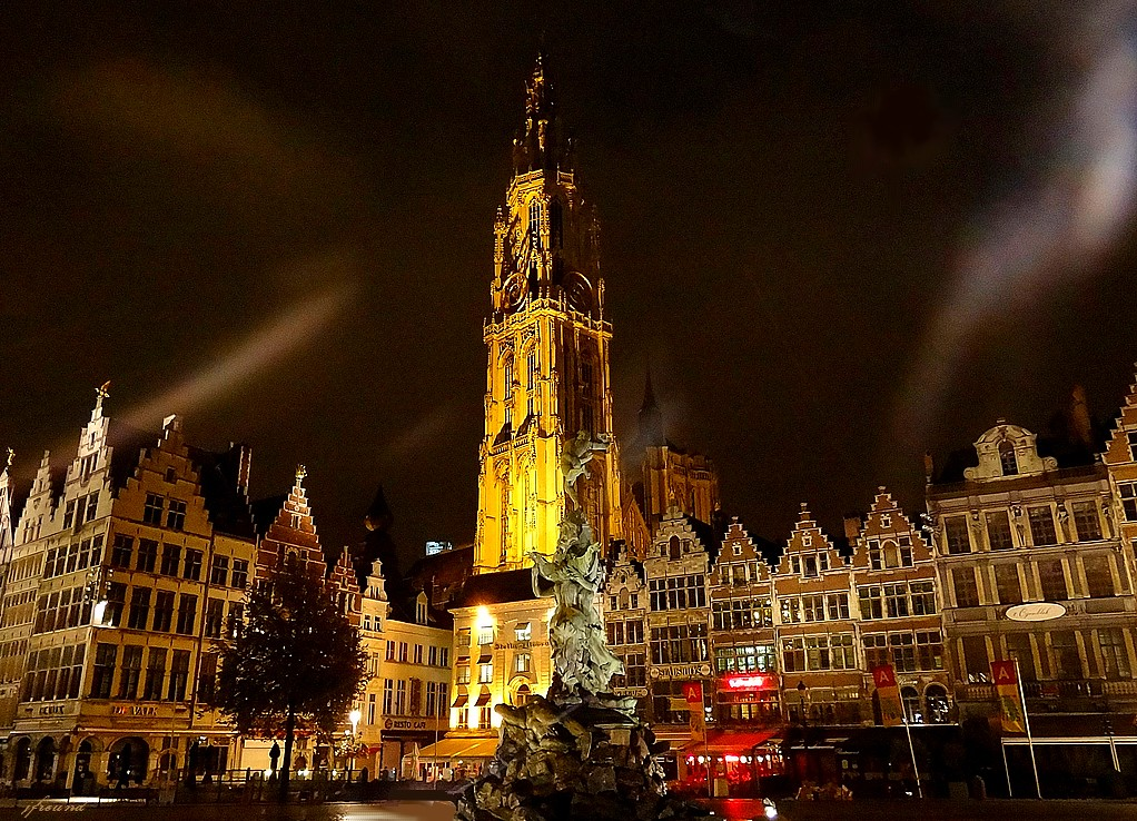 As 3d Name Wallpaper Grote Markt Antwerp At Night A Beautiful Place Is The
