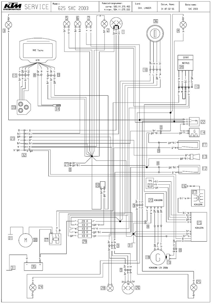 ktm 520 wiring diagram schematic