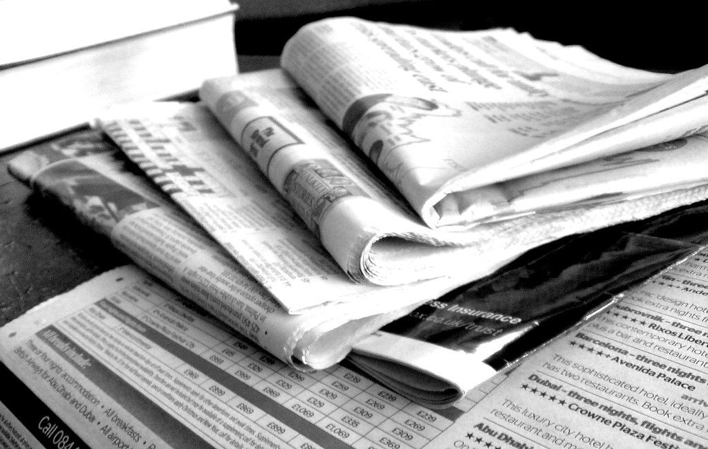 Newspapers BW (3) Newspapers in black and white Jon S Flickr
