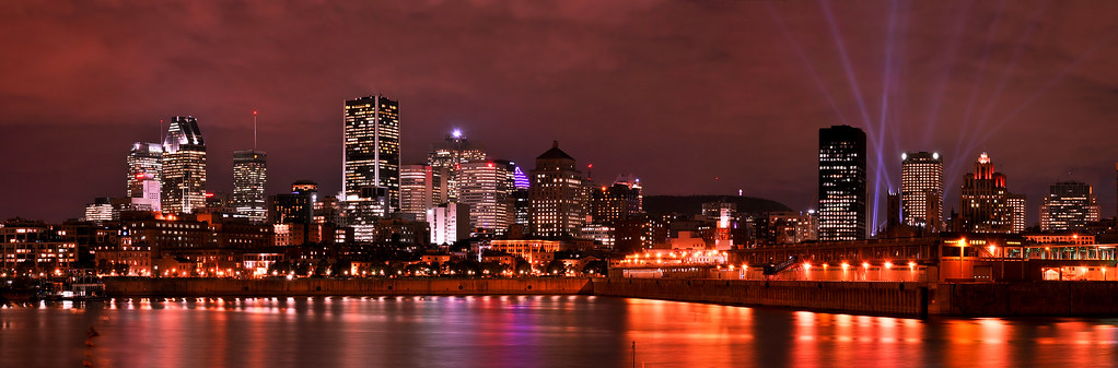 3d Wallpaper Hd Wallpaper Montreal Skyline Night View Of The Montreal Skyline