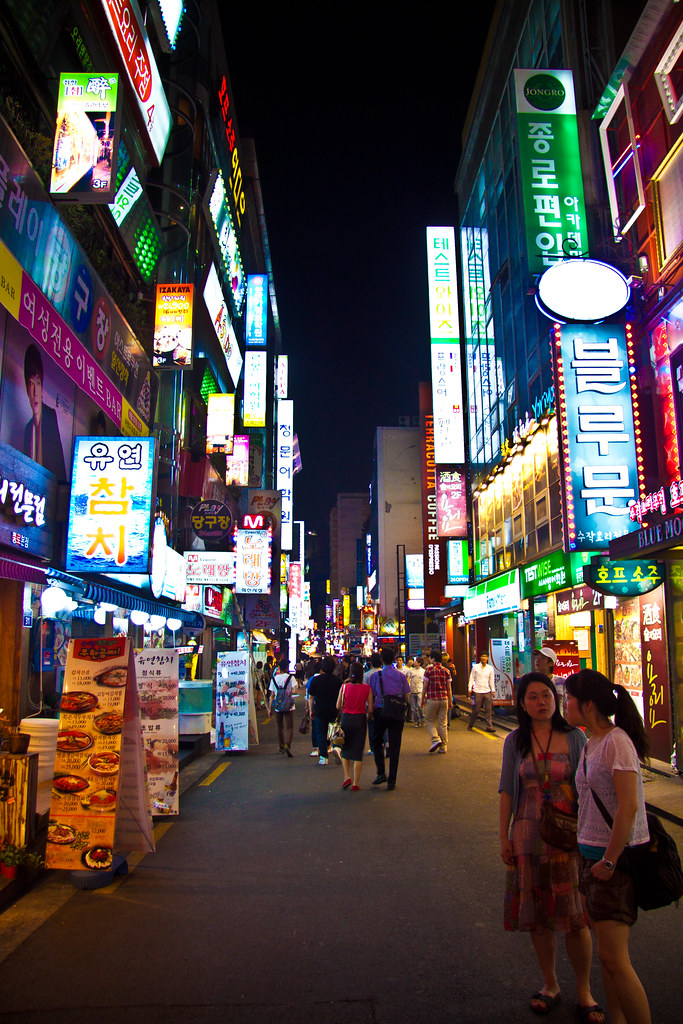 3d Wallpaper City Lights Seoul Night Street Artem Flickr