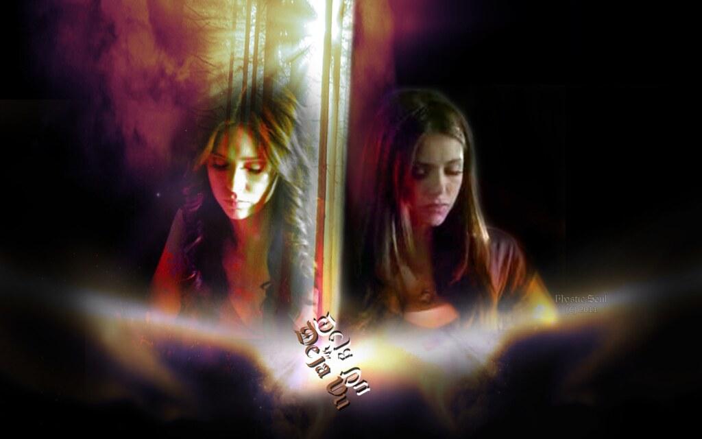 3d Pc Wallpaper Com Katherine Amp Elena Wallpaper Vampire Diaries Fan Art Quot D