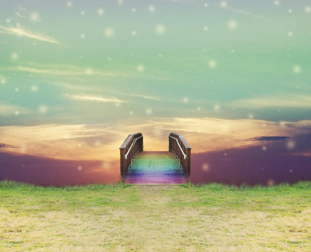 Rainbow 3d Wallpaper Rainbow Bridge Handmade Background Available For