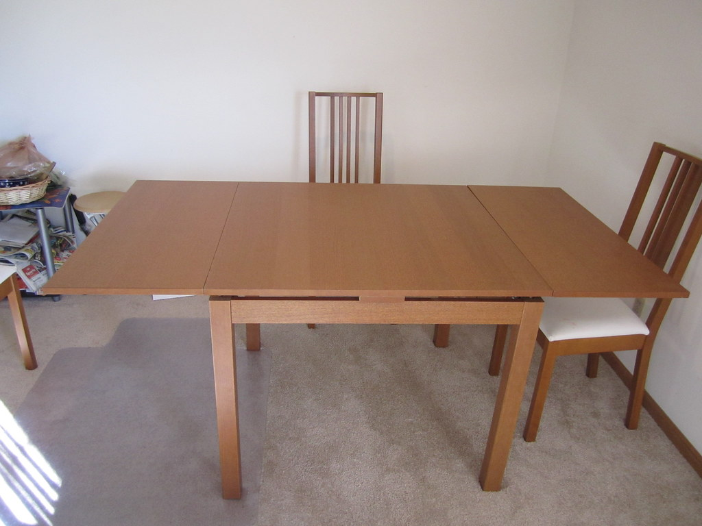 Table With Slide Out Leaves Bjursta Dining Table With 2 Pull Out Leaves Full