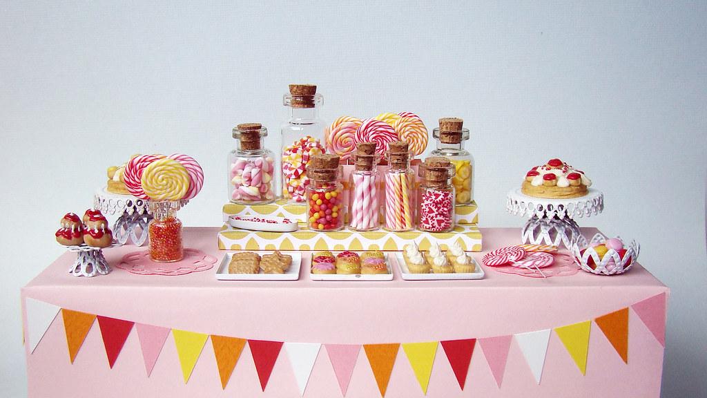 Cute Red Heart Wallpapers Miniature Candy Dessert Table Taaadaaaaa This Piece