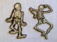 Vintage Halloween Decorations--Dennison Skeleton Die Cuts ...