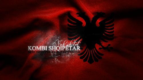 Arsenal Wallpaper 3d Flamuri Kuq E Zi Albanian Flag Siiwon Creative 2011
