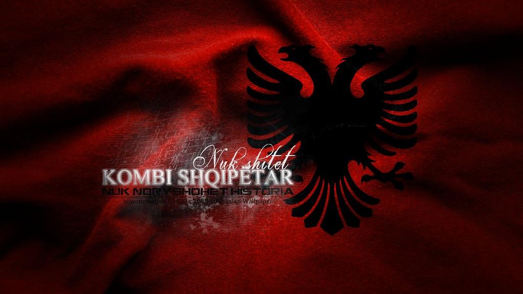 3d Eagle Wallpaper Flamuri Kuq E Zi Albanian Flag Siiwon Creative 2011