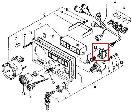yanmar instrument panel wiring diagram