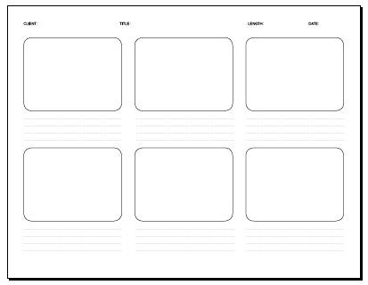 06 frame storyboard 11 x 85 in Storyboard template PDF \u2026 Flickr