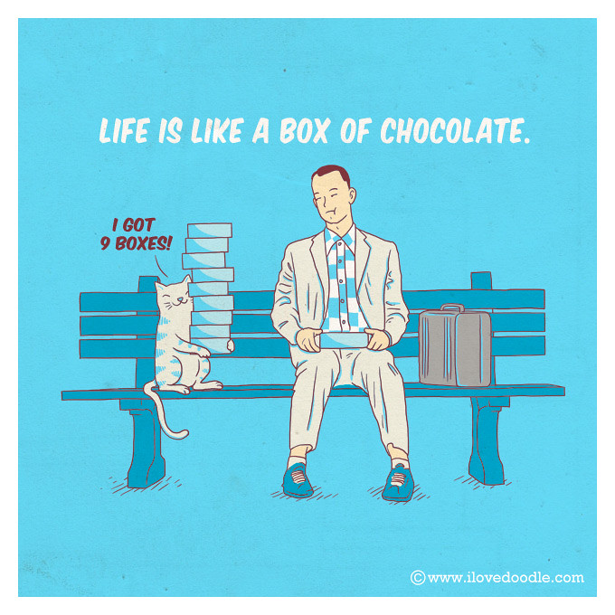 Life Is Like A Box Of Chocolate Doodle Everyday 230