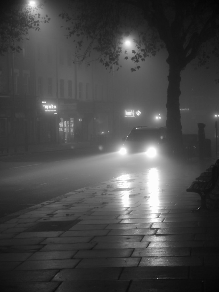 Morning 3d Wallpaper Foggy London Street 3 Looking Down The High Road In East
