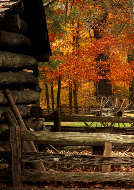Beautiful Fall Paintings Wallpapers Autumn Landscape With Old Log Cabin This Photo Was Taken