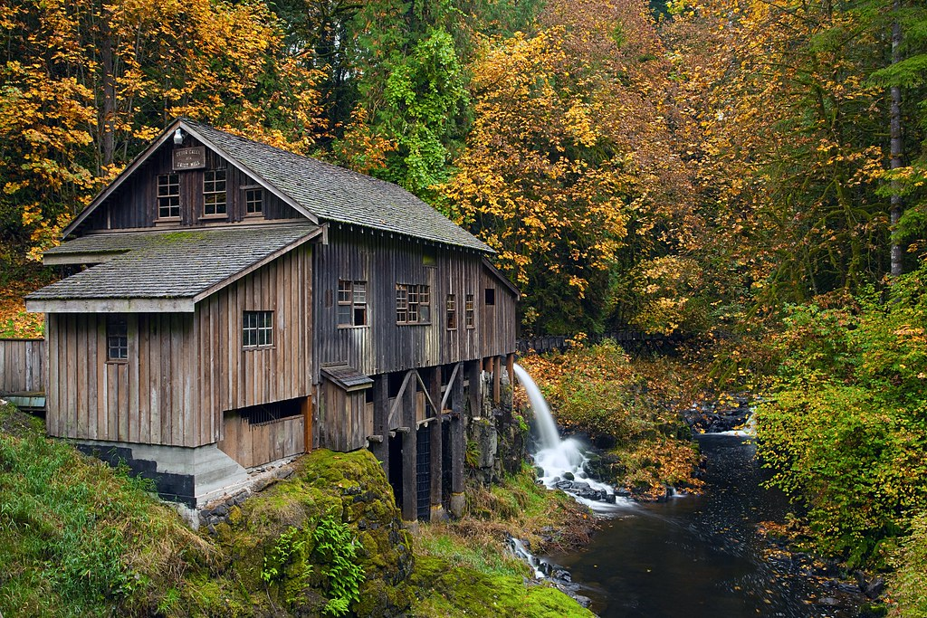 Wallpaper Scenes Of Fall Grist Mill Woodland Washington Fall Colors At The