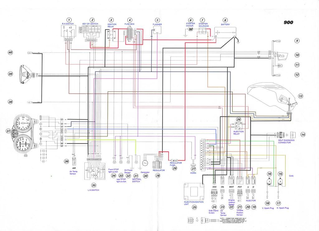 Ducati Electrical Diagrams - Wiring Data Diagram