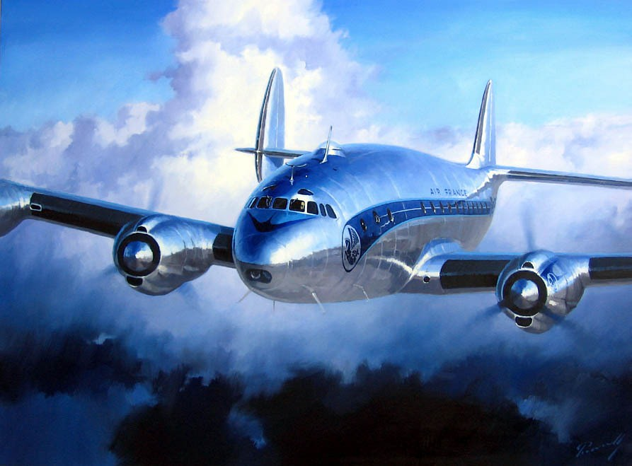 Some 3d Wallpapers Lockheed Constellation Air France Par Lucio Perinotto