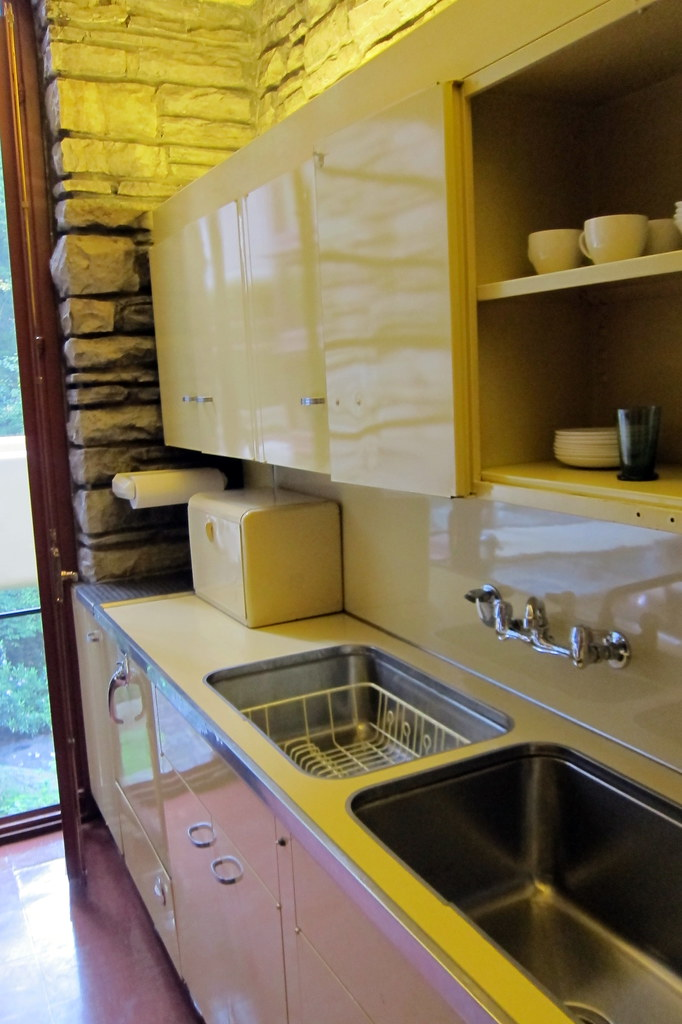 New Metal Kitchen Cabinets Pa - Mill Run: Fallingwater - Kitchen | Modern For Its Day