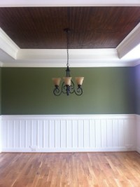 Stained Beadboard Ceiling, | Dining Room Ceiling-stained ...