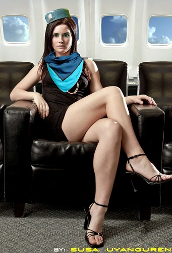 Asian Girl Wallpaper Stewardess Stewardess Flight Attendant Air Hostess