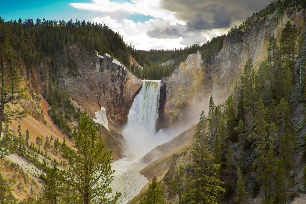 Niagara Falls Waterfall Wallpaper Lower Falls Yellowstone National Park Wyoming Usa Flickr