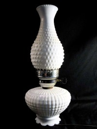 Vintage Hobnail Milk Glass Hurricane Lamp   Adria   Flickr