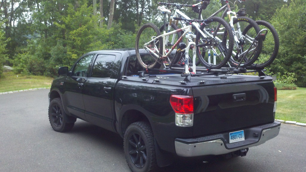 Toyota tundra with a black diamondback hd cover and a y flickr