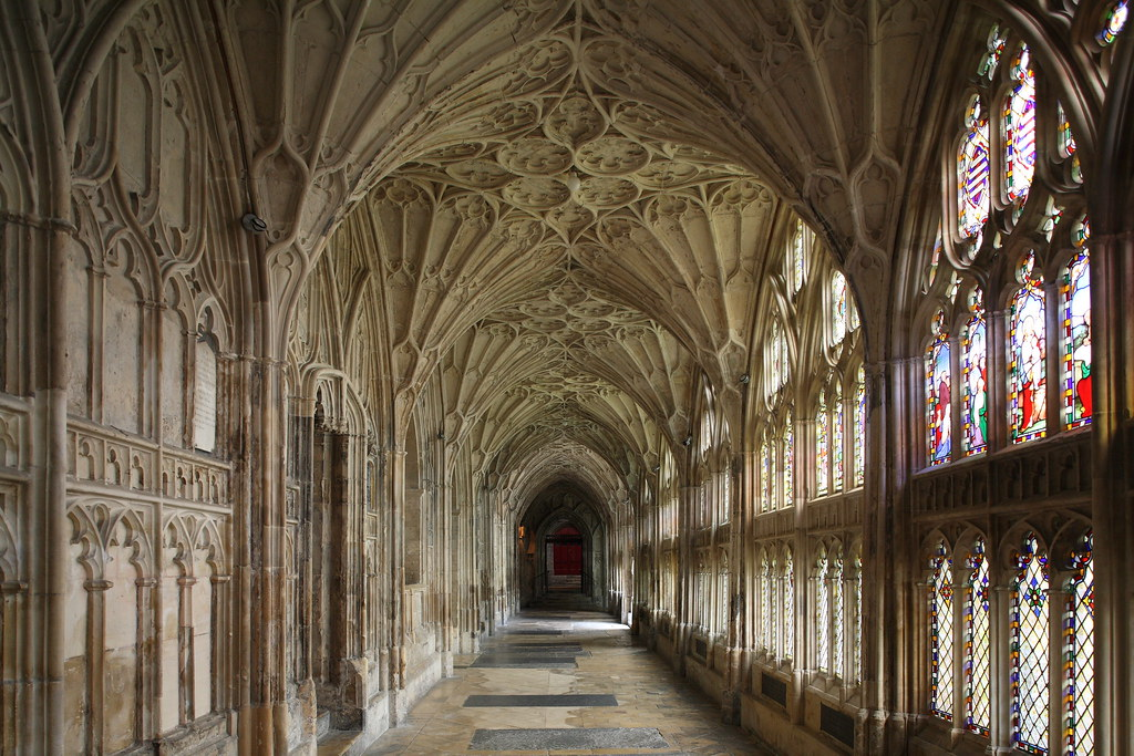 3d Wallpaper Uk The Cloisters Gloucester Cathedral The Cloisters