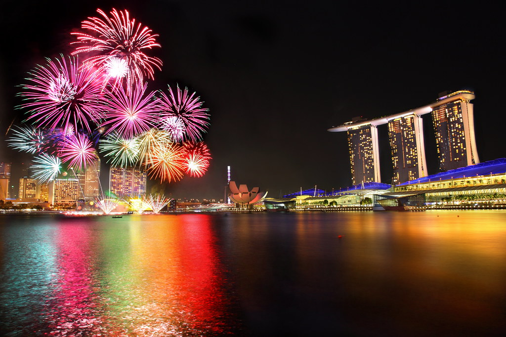 Happy New Year 3d Live Wallpaper Singapore National Day Parade Firework 2012 Location