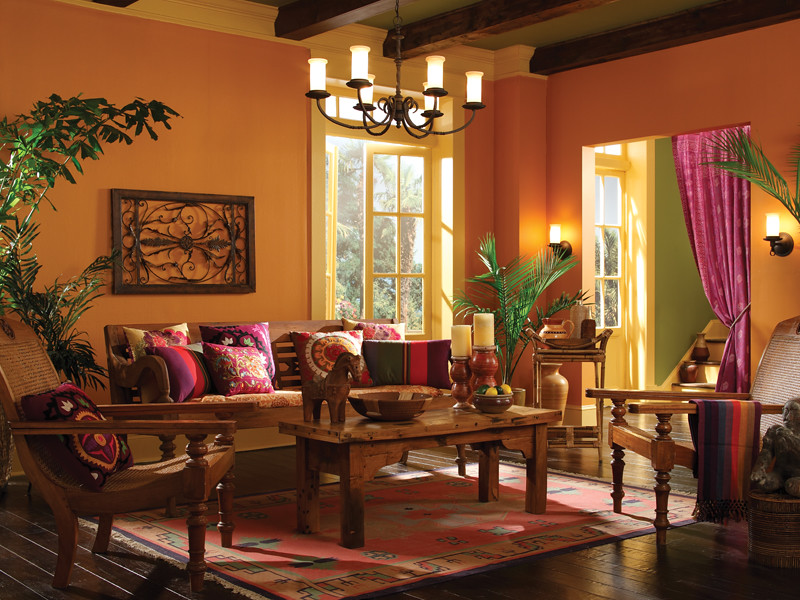 3d Wallpaper Decorating Ideas South American Living Room Walls Amber Wave 260d 5