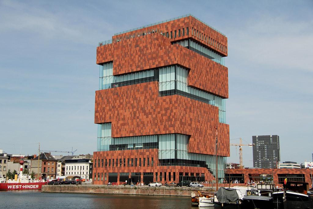 3d Curved Wallpaper Museum Aan De Stroom Antwerpen Belgium Museum Aan De