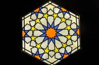 Islamic Design No.3 by John Hardisty | Stained glass panel ...