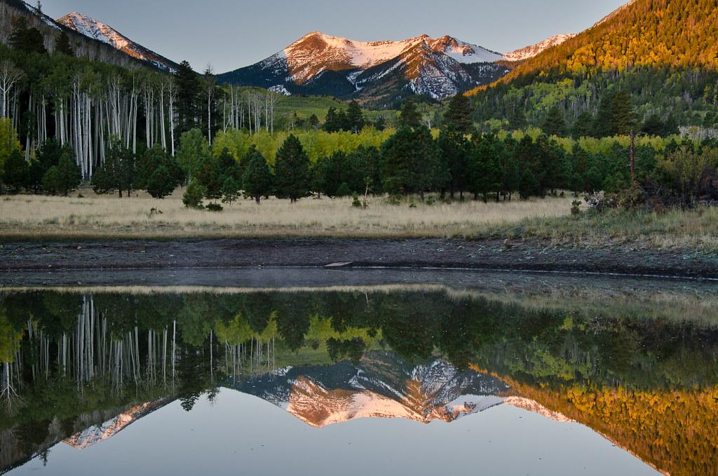 Fall Color Wallpaper For Desktop Inner Basin Sunrise Flagstaff Arizona This Mornings