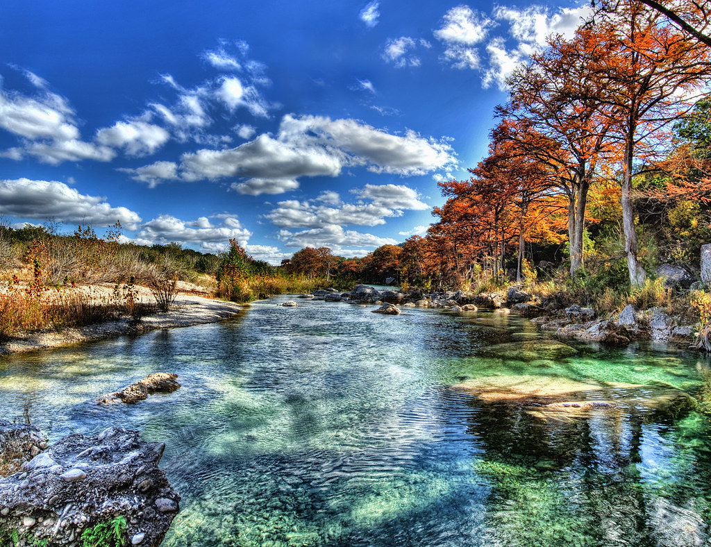 Scenic Fall Wallpaper Green Frio River Fall Hdr Three Frame Hdr Pano Of The