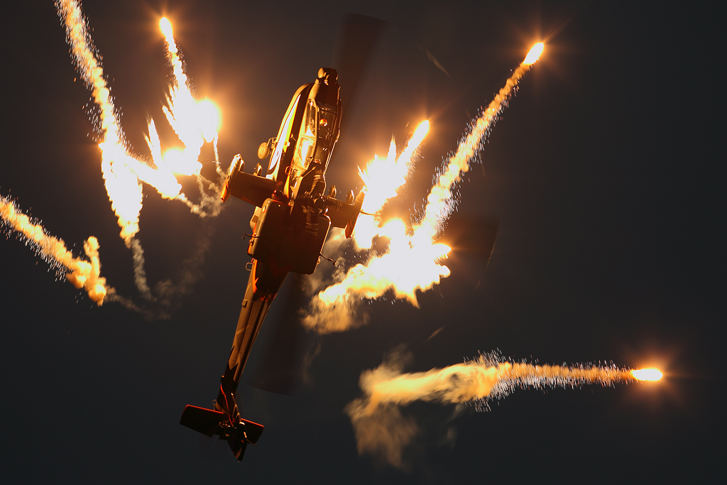Pistol 3d Wallpaper Ah 64 Apache Shooting Flares The Sanicole Sunset Show In