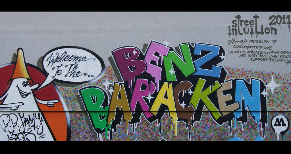 Mannheim Germany Mannheim: Graffiti - Welcome To The Benz Baracken | Camera